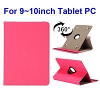 Универсальный чехол, 10.1'', полиуретан, текстиль, вращающийся, розовый