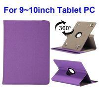 Универсальный чехол, 10.1'', полиуретан, текстиль, вращающийся, фиолетовый