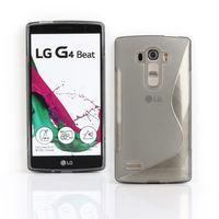 Чехол-накладка LG G4S силикон, S-line, белый