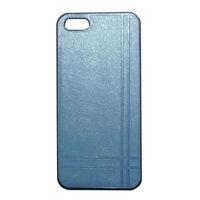 Чехол-накладка на Apple iPhone 5/5S, пластик, кожа, Chanel, голубой