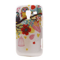 Чехол-накладка на Samsung Ace2 пластик, flower