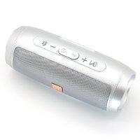 Портативная колонка, Орбита OT-SPB105, Bluetooth, USB, FM, TF, AUX, 10Вт, 1200 mAh, синхр., серебрис