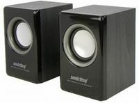 Активные колонки 2.0, Smart Buy Classic (SBA-3000), 2x3W, дерево, черный