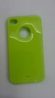 Чехол-накладка на Apple iPhone 4/4S, силикон, вырез, зеленый