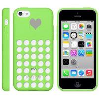 Чехол-накладка на Apple iPhone 5C, силикон, перфорация, зеленый