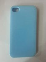 Чехол-накладка на Apple iPhone 4/4S, силикон, бирюзовый