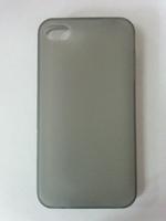 Чехол-накладка на Apple iPhone 4/4S, силикон, матовый, черный