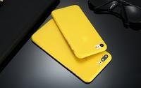 Чехол-накладка на Apple iPhone 7/8 Plus, пластик, ультратонкий, матовый, желтый