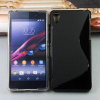 Чехол-накладка на Sony Xperia Z2 силикон, S-line, черный