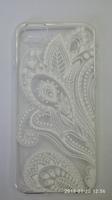 Чехол-накладка на Apple iPhone 6/6S, силикон, полупрозрачный, узор 3, белый