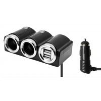 Разветвитель автоприкуривателя OLESSON 1502 (2 выхода + 2 USB)