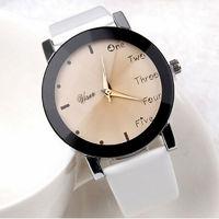 Часы наручные Noname, ц.коричневый, р.белый, кожа Д02279