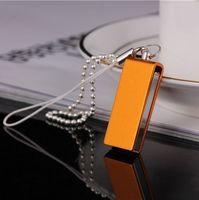 Память USB 2.0 Flash, брелок, оранжевый, 8 Gb