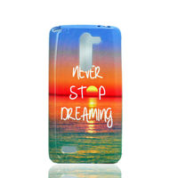 Чехол-накладка LG L Bello (D331,D335), силикон, never stop dreaming