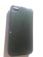 Чехол-накладка на Apple iPhone 4/4S, силикон, глянцевый, черный
