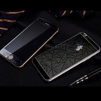 Цветное защитное стекло для Apple iPhone 6/6S комплект, 4D, черный