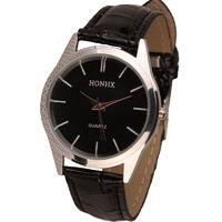Часы наручные Honhx, ц.черный, р.черный, кожа