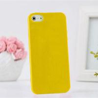 Чехол-накладка на Apple iPhone 5/5S, силикон, желтый