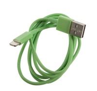 Кабель для iPhone 8pin, зеленый, 1м