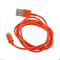 Кабель для iPhone 8pin, оранжевый, 1м