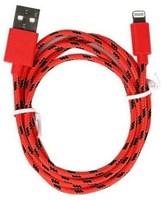 Кабель для iPhone 8pin, Smartbuy iK-512n, тканевый переплет, красный, 1м