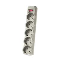 Сетевой фильтр Perfeo PF-A4717, 5 розеток, 3м, серый