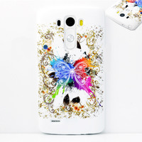 Чехол-накладка LG G3 силикон, butterfly