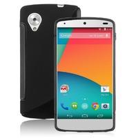 Чехол-накладка LG Google Nexus 5, силикон, S-line, черный