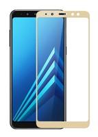 Защитное стекло Samsung Galaxy J6 (2018) на дисплей, с рамкой, золотистый