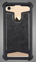 """Чехол-накладка универсальная, силик.бампер, 4.5""""-4.7"""", черный"""