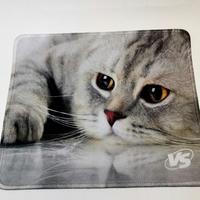 Коврик для мыши VS Cat Img 2, ткань, резина, 220x180 мм
