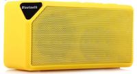 Портативная колонка, X3, Bluetooth, USB, FM, AUX, TF, BL-5C, желтый