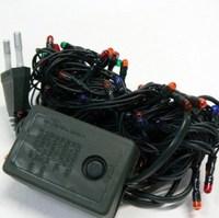 Гирлянда прямая, 200 микроламп, 4 цвета, 8 режимов, 10 м, черный провод