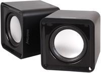 Активные колонки 2.0, Smart Buy MINI (SBA-2800), 2x2W, черный
