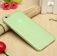 Чехол-накладка на Apple iPhone 6/6S, пластик, тонкий, матовый, зеленый
