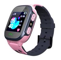 Смарт-часы Q15, детские, Sim, LCD, LBS, камера, фонарик, розовый