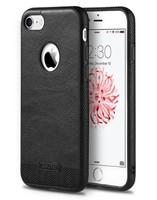 Чехол-накладка на Apple iPhone 5/5S, силикон, кожа, Lovebay, черный