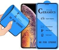 Защитное керамическое стекло для Apple iPhone 11 Pro, 5D, черный