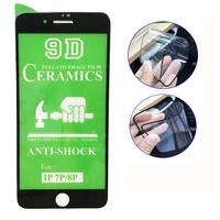 Защитное керамическое стекло для Apple iPhone 7/8 Plus, 5D, белый
