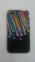 Чехол-накладка на Apple iPhone 4/4S, силикон, stars