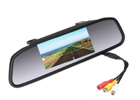 """Монитор BYNCG, зеркало заднего вида, 4.3"""", 2 камеры, черный"""