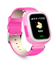 Смарт-часы Q90, детские, Sim, LCD, GPRS, Wi-Fi, GPS, розовый