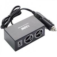 Разветвитель автоприкуривателя OLESSON 1522 (2 выхода + USB)