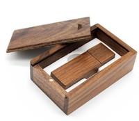 Память USB 2.0 Flash, 32GB, BiNFUL, дерево, wood №5 с боксом, walnut wood