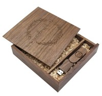 Память USB 2.0 Flash, 32GB, BiNFUL, дерево, wood №14 с боксом big size, walnut wood