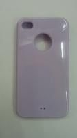 Чехол-накладка на Apple iPhone 4/4S, силикон, вырез, лиловый