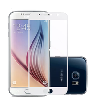 Защитное стекло Samsung Galaxy S6 на дисплей, с рамкой, белый