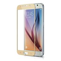 Защитное стекло Samsung Galaxy S6 на дисплей, с рамкой, золотистый