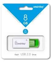 Память USB 2.0 Flash, 8GB, Smart Buy Click Green