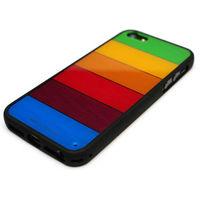 Чехол-накладка на Apple iPhone 4/4S, силикон, прозрачный, цветной